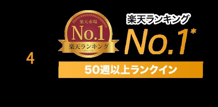 【理由4】楽天ランキングNo.1* 50週以上ランクイン ※2017年9月19日~2018年10月26日 テレビ台・ローボード 部門