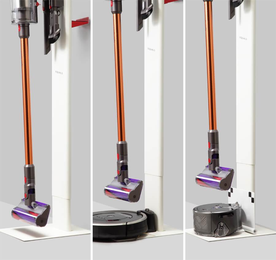 ロボット掃除機を同時収納