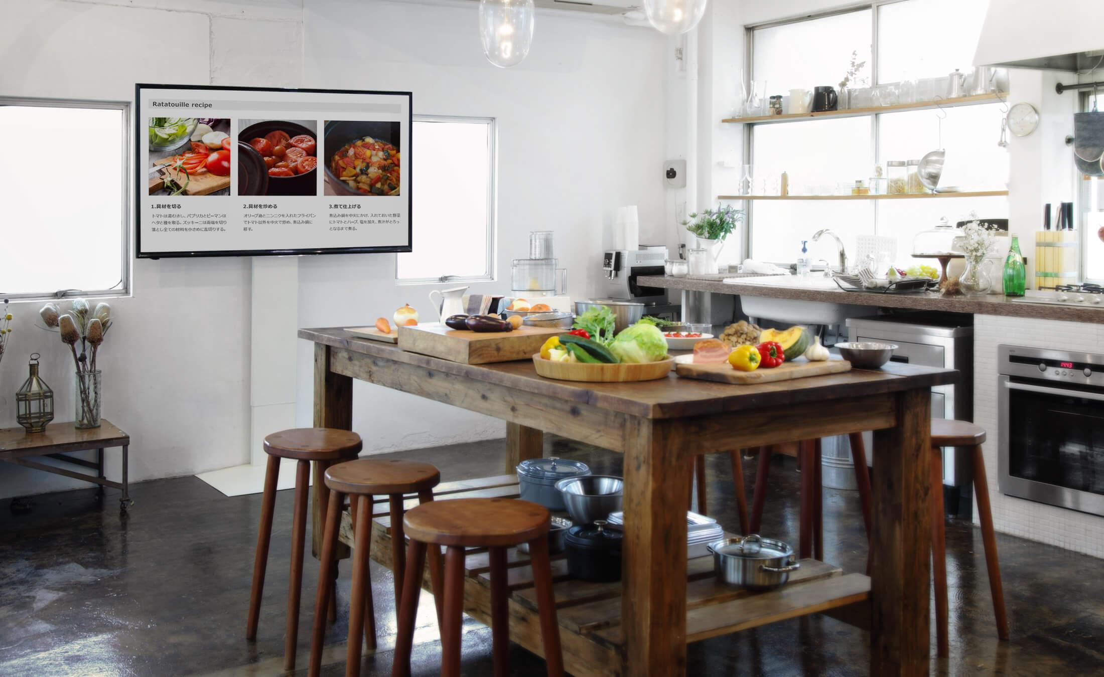 WALL INTERIOR TV STAND V3 壁寄せテレビスタンドV3 DINING & KITCHEN 1枚目