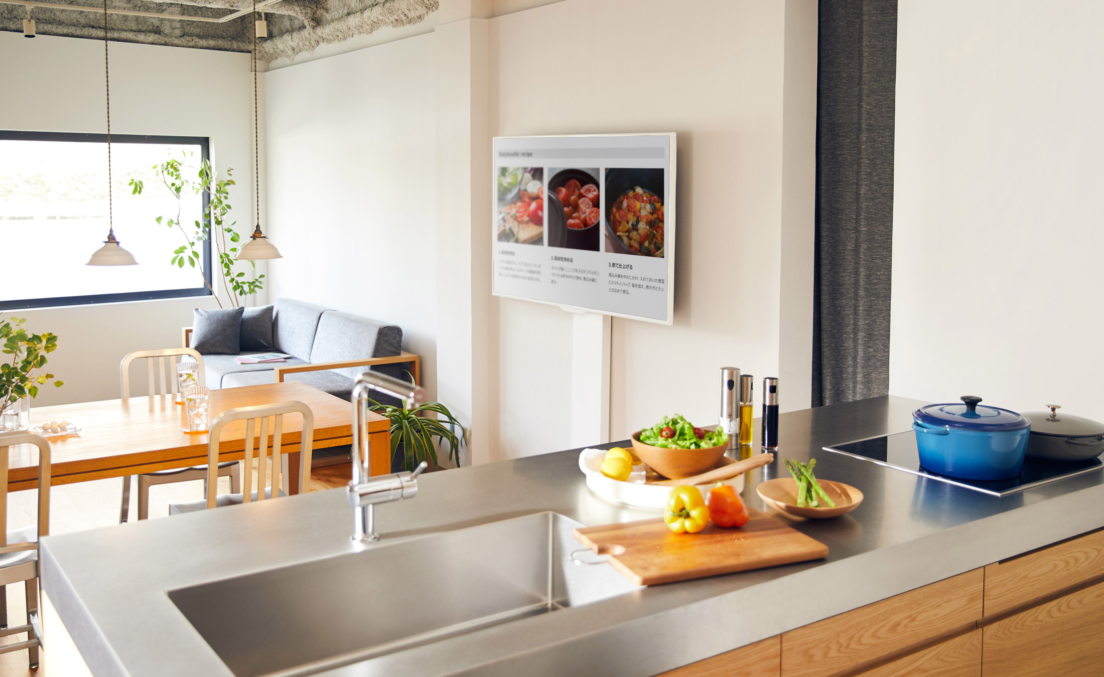 WALL INTERIOR TV STAND V3 壁寄せテレビスタンドV3 DINING & KITCHEN 3枚目