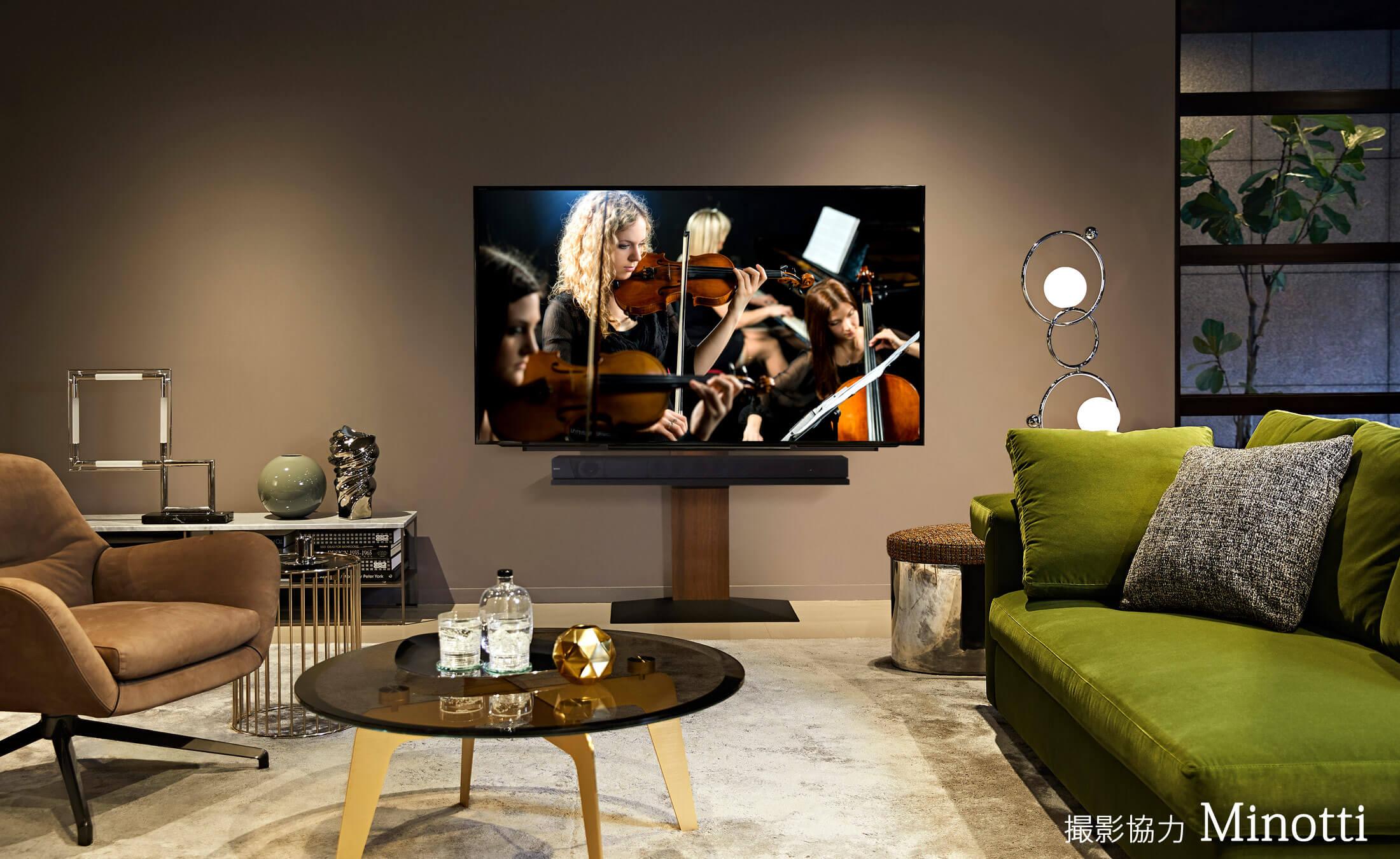 WALL INTERIOR TV STAND V3 壁寄せテレビスタンドV3 LIVING ROOM 2枚目