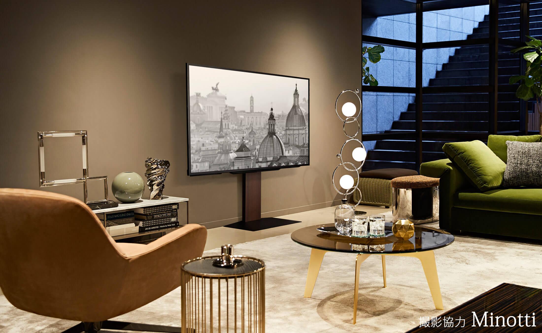 WALL INTERIOR TV STAND V3 壁寄せテレビスタンドV3 LIVING ROOM 3枚目