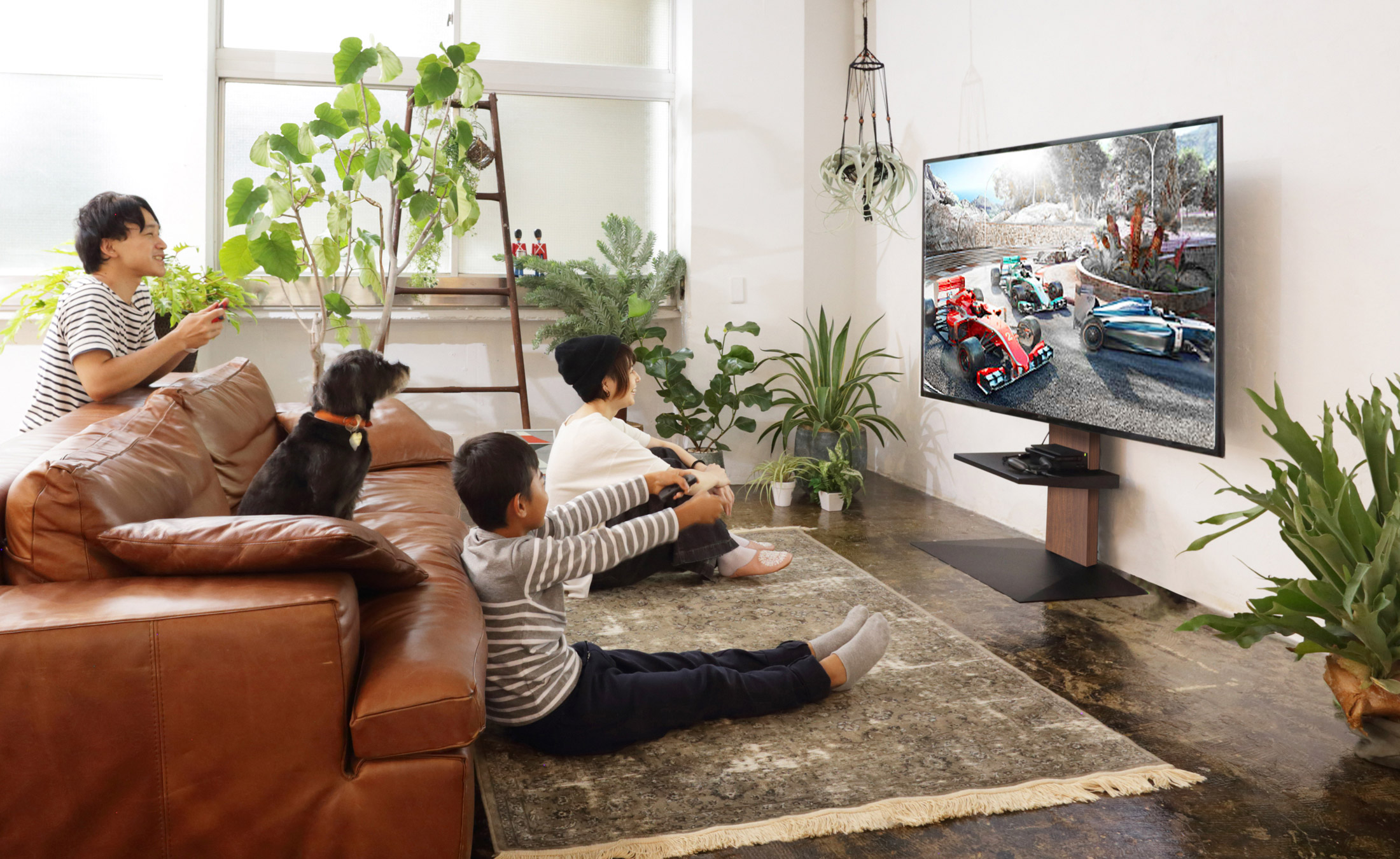 WALL INTERIOR TV STAND V3 壁寄せテレビスタンドV3 LIVING ROOM 5枚目
